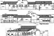 Mediterranean Style House Plan - 3 Beds 2.5 Baths 4040 Sq/Ft Plan #76-117 Exterior - Rear Elevation