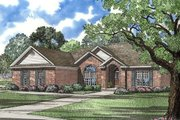 Contemporary Style House Plan - 3 Beds 2 Baths 2133 Sq/Ft Plan #17-149 Exterior - Front Elevation