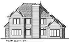 House Design - European Exterior - Rear Elevation Plan #70-712