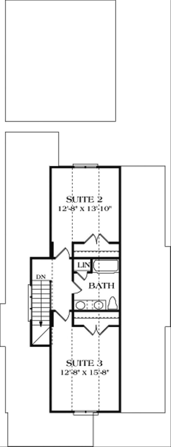 Bungalow Floor Plan - Upper Floor Plan Plan #453-6