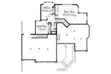 Modern Floor Plan - Lower Floor Plan Plan #509-12