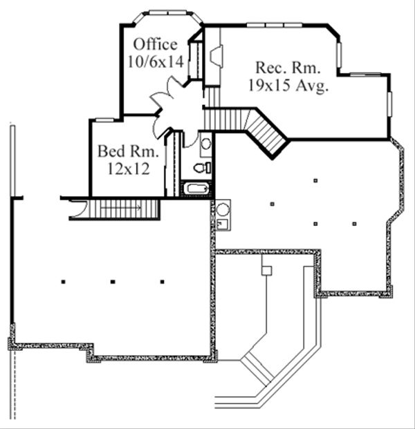 Modern Floor Plan - Lower Floor Plan Plan #509-12