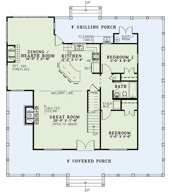 Country Floor Plan - Main Floor Plan Plan #17-2558