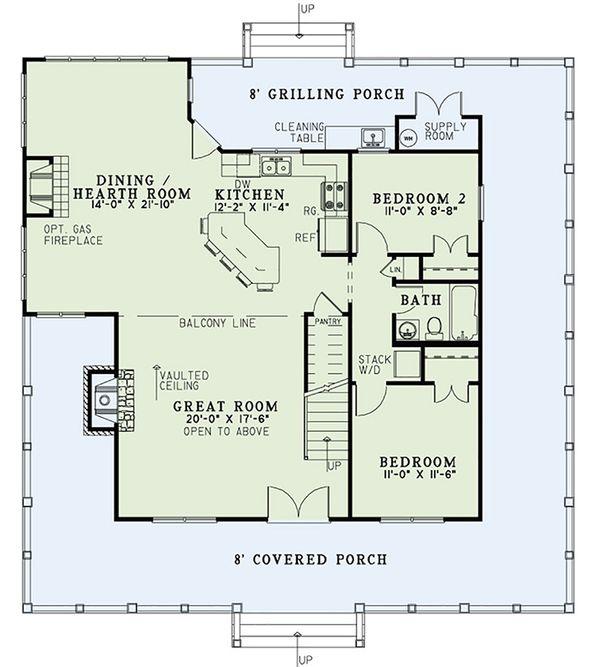 Country Floor Plan - Main Floor Plan #17-2558
