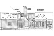 Colonial Exterior - Rear Elevation Plan #3-257