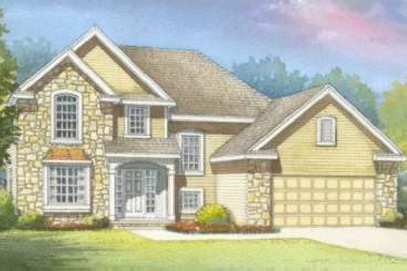 Traditional Exterior - Front Elevation Plan #20-1650 - Houseplans.com