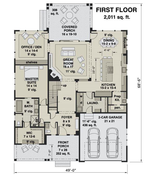 Farmhouse Floor Plan - Main Floor Plan #51-1167