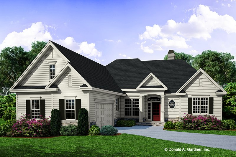 Architectural House Design - Ranch Exterior - Front Elevation Plan #929-666