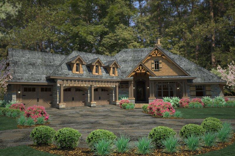 Craftsman Exterior - Front Elevation Plan #120-191 - Houseplans.com