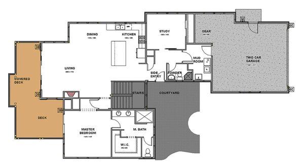 Dream House Plan - Craftsman Floor Plan - Main Floor Plan #895-92