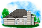 Ranch Style House Plan - 3 Beds 2 Baths 1295 Sq/Ft Plan #48-583 Exterior - Rear Elevation