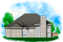 Ranch Exterior - Rear Elevation Plan #48-583