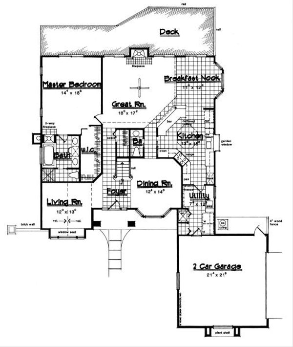 European Floor Plan - Main Floor Plan Plan #417-323