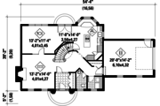 Colonial Style House Plan - 3 Beds 2 Baths 1838 Sq/Ft Plan #25-4853 Floor Plan - Main Floor