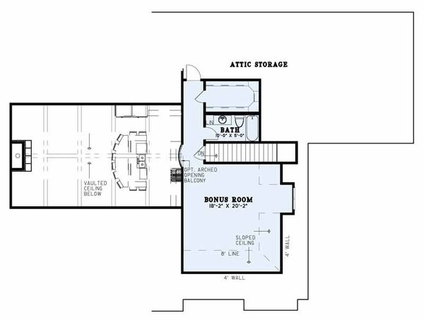Architectural House Design - Country Floor Plan - Upper Floor Plan #17-2608
