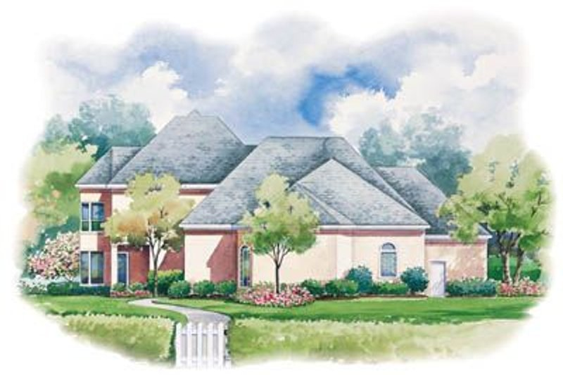 European Exterior - Rear Elevation Plan #20-1138 - Houseplans.com