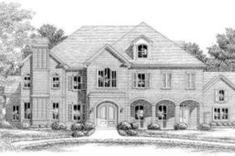 European Style House Plan - 6 Beds 6 Baths 5974 Sq/Ft Plan #325-267 Exterior - Front Elevation