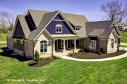 Craftsman Style House Plan - 4 Beds 4 Baths 2966 Sq/Ft Plan #929-988 Exterior - Front Elevation