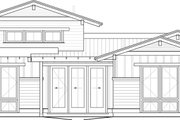 Craftsman Style House Plan - 3 Beds 2.5 Baths 1921 Sq/Ft Plan #895-26 Exterior - Rear Elevation