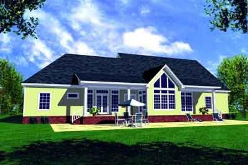 Southern Exterior - Rear Elevation Plan #21-177 - Houseplans.com