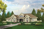 Mediterranean Style House Plan - 3 Beds 2.5 Baths 1948 Sq/Ft Plan #57-371