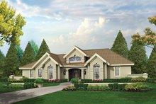 House Design - Mediterranean Exterior - Front Elevation Plan #57-371