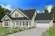 Farmhouse Style House Plan - 3 Beds 2.5 Baths 1597 Sq/Ft Plan #513-2075 Exterior - Front Elevation