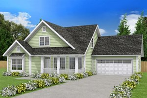 Farmhouse Exterior - Front Elevation Plan #513-2075