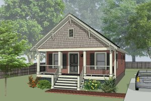 Cottage Exterior - Front Elevation Plan #79-108