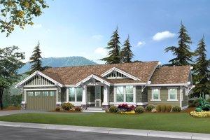 Craftsman Exterior - Front Elevation Plan #132-101