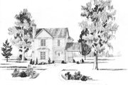 Bungalow Style House Plan - 3 Beds 2.5 Baths 1626 Sq/Ft Plan #36-284 Exterior - Front Elevation