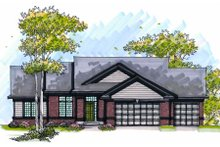 Dream House Plan - Traditional Exterior - Front Elevation Plan #70-1003