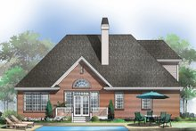 Country Exterior - Rear Elevation Plan #929-470