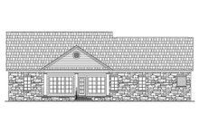 House Plan Design - Country Exterior - Rear Elevation Plan #21-130