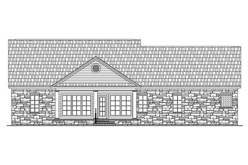 Country Exterior - Rear Elevation Plan #21-130 - Houseplans.com