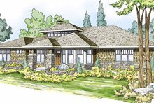 Dream House Plan - Prairie Exterior - Front Elevation Plan #124-821
