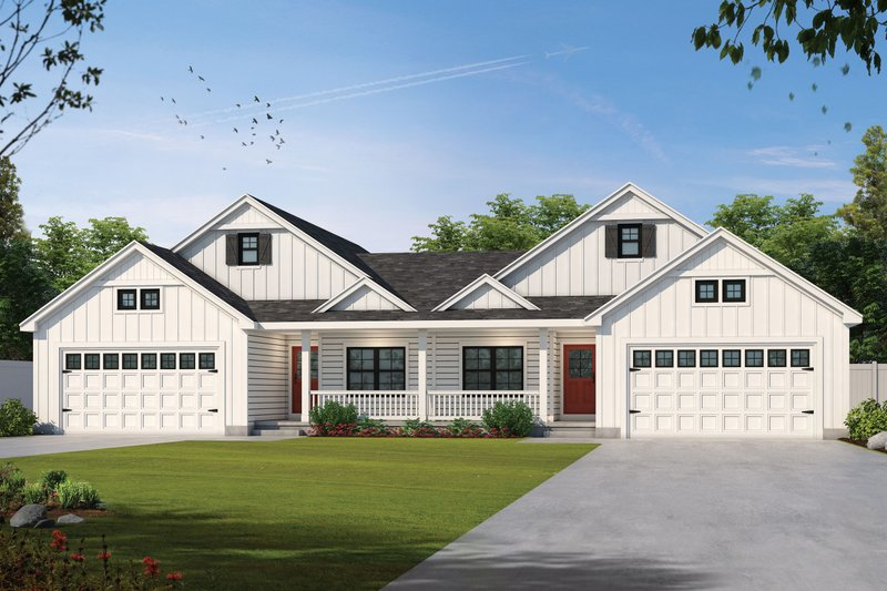 Architectural House Design - Craftsman Exterior - Front Elevation Plan #20-2435