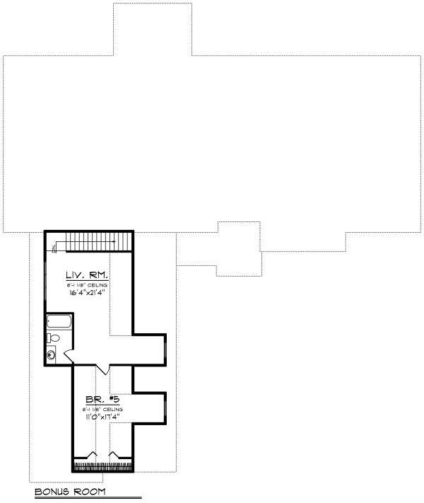 Craftsman Floor Plan - Upper Floor Plan Plan #70-1282