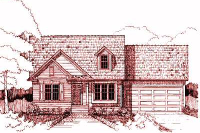 Cottage Exterior - Front Elevation Plan #79-158