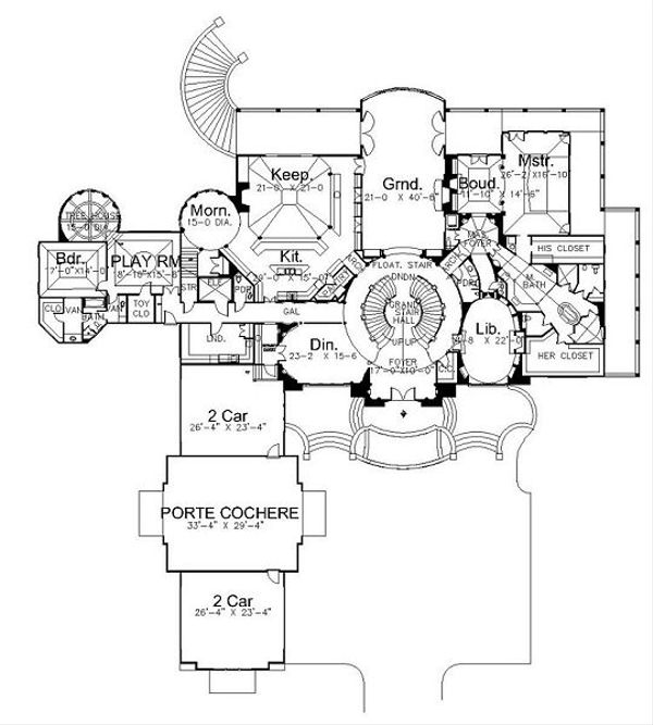 European Floor Plan - Main Floor Plan Plan #119-303