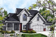 House Plan Design - Traditional Exterior - Front Elevation Plan #70-330