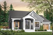 Country Style House Plan - 2 Beds 2 Baths 1452 Sq/Ft Plan #23-560 Exterior - Front Elevation