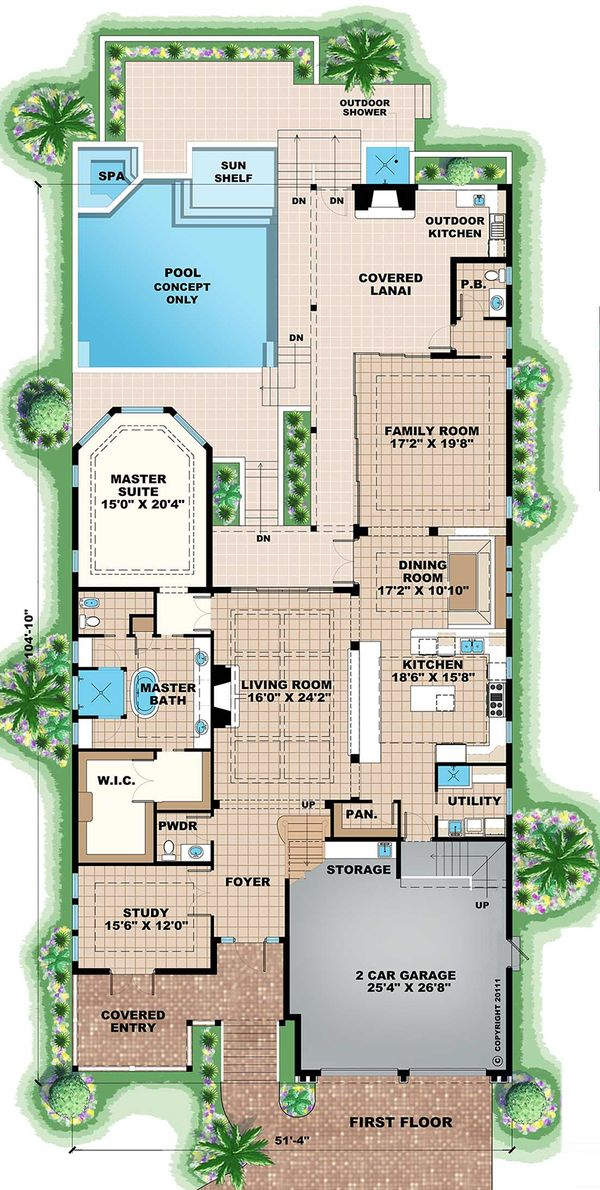Beach Floor Plan - Main Floor Plan Plan #27-474