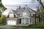 Victorian Style House Plan - 4 Beds 2.5 Baths 3415 Sq/Ft Plan #132-132 Exterior - Front Elevation