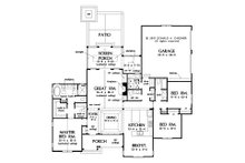 Cottage Floor Plan - Main Floor Plan Plan #929-1102