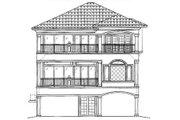 Mediterranean Style House Plan - 4 Beds 3 Baths 3763 Sq/Ft Plan #27-218 Exterior - Rear Elevation