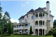 Victorian Style House Plan - 5 Beds 4 Baths 6720 Sq/Ft Plan #1066-55 Exterior - Rear Elevation