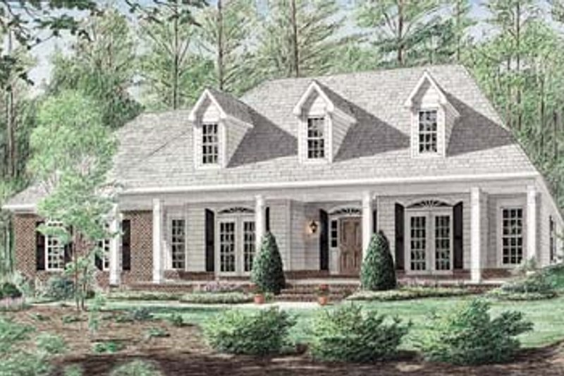 Traditional Exterior - Front Elevation Plan #34-146 - Houseplans.com