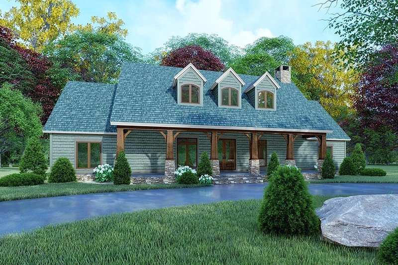 Farmhouse Style House Plan - 3 Beds 2 Baths 2050 Sq/Ft Plan #923-161 Exterior - Front Elevation