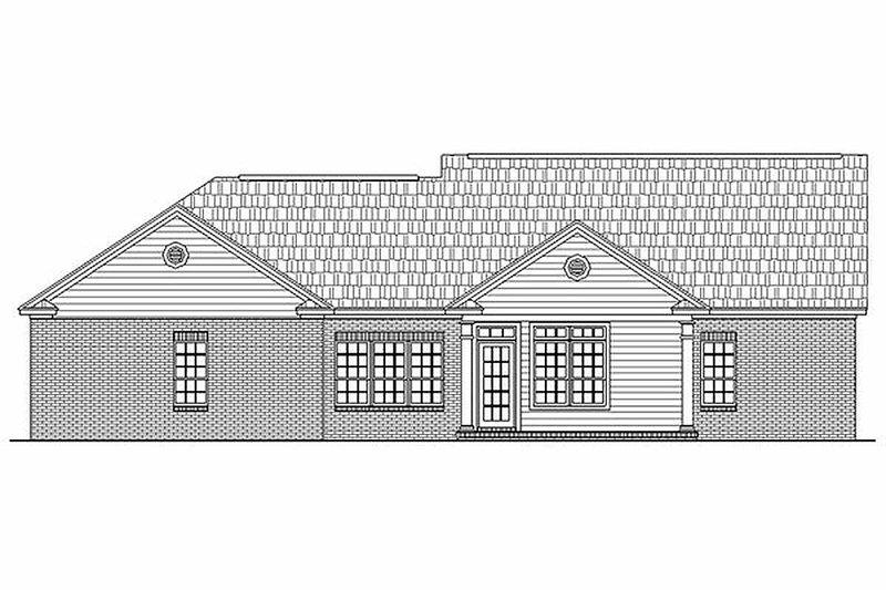 Ranch Exterior - Rear Elevation Plan #21-144 - Houseplans.com